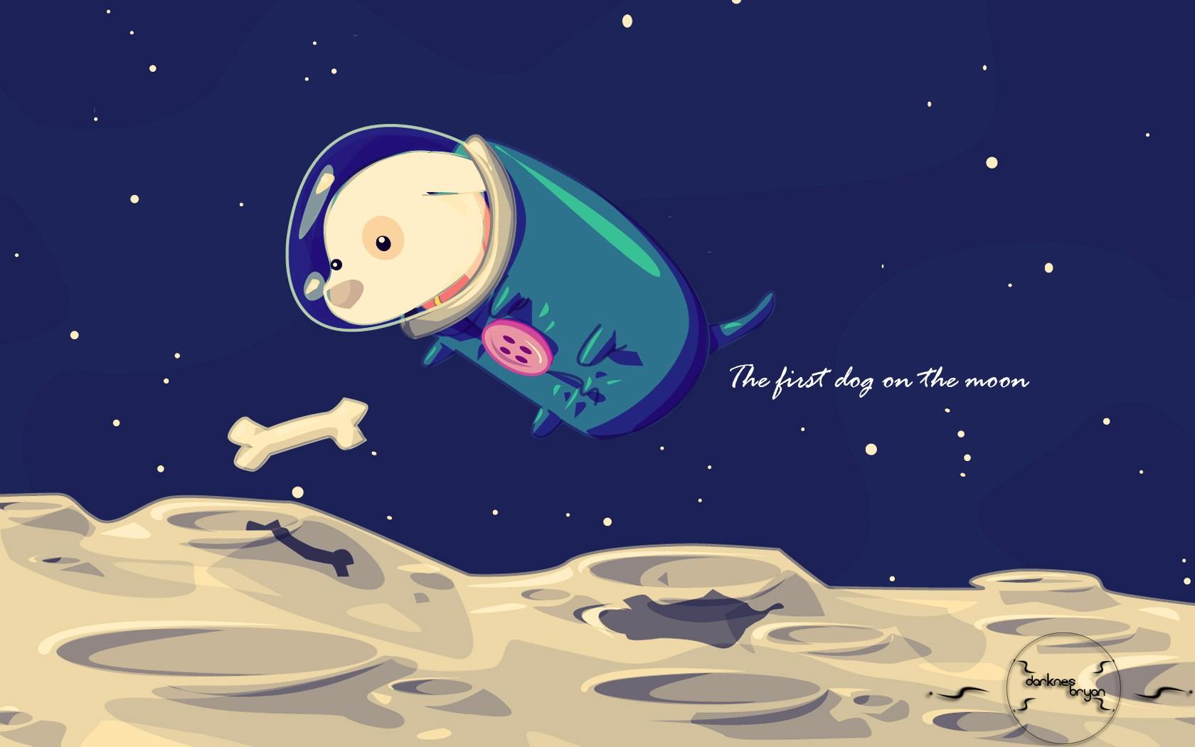 Wallpaper - Dog In Space Cartoon - HD Wallpaper