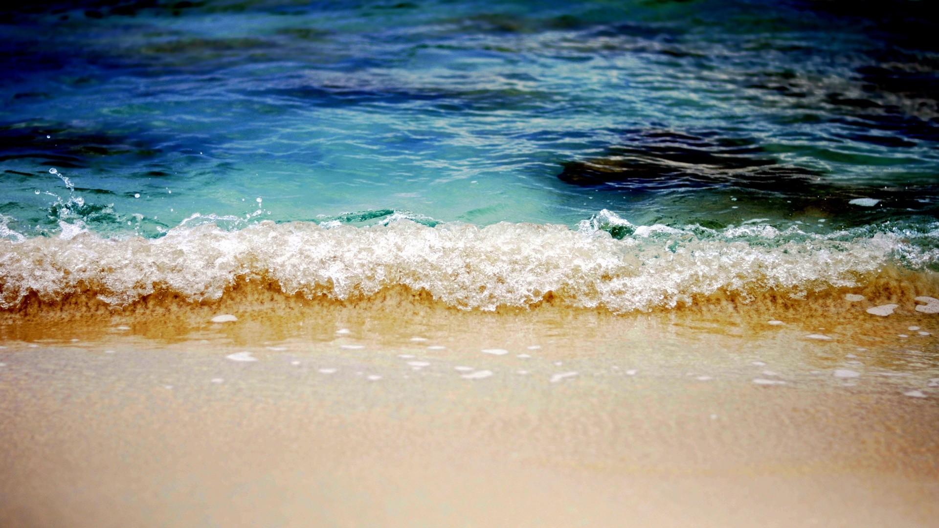 Caribbean, Beach, Waves, Widescreen, High, Definition, - Desktop Backgrounds Beach Waves - HD Wallpaper