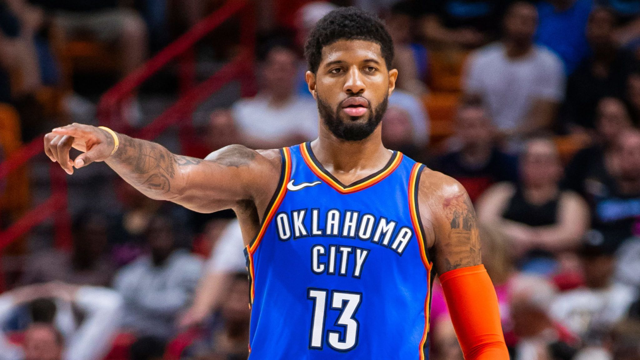 Paul George Sets Up A Thunder Possession Lakers Vs Clippers 2020 2048x1152 Wallpaper Teahub Io