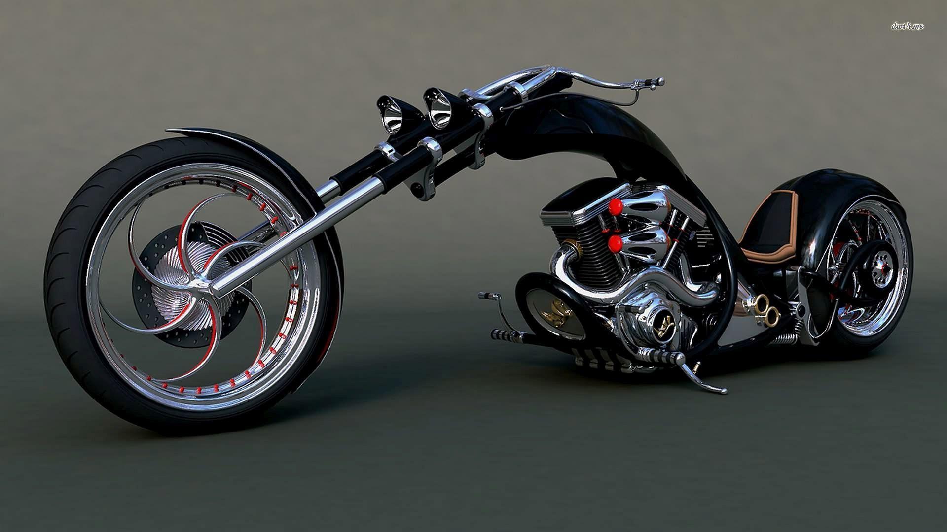 29046 Harley Chopper Motorcycle Wallpaper - Harley Davidson Chopper Bike - HD Wallpaper