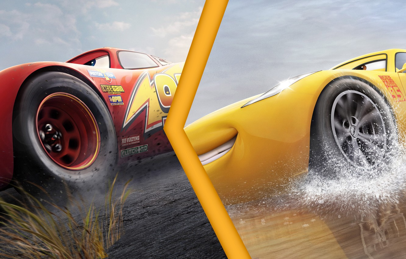 Photo Wallpaper Cars Animated Film Animated Movie Lightning Mcqueen Cars 3 Movie Poster 1332x850 Wallpaper Teahub Io
