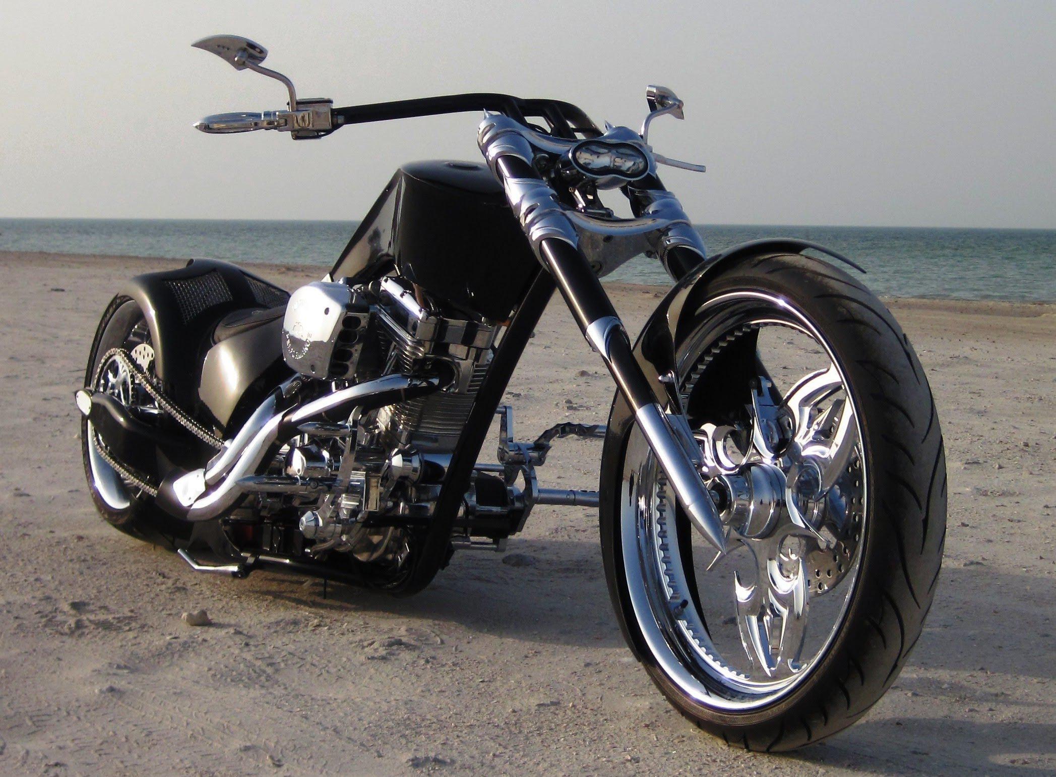 Hd Custom Chopper Motorbike Tuning Bike Hot Rod Rods - Chopper Custom Custom Bike - HD Wallpaper