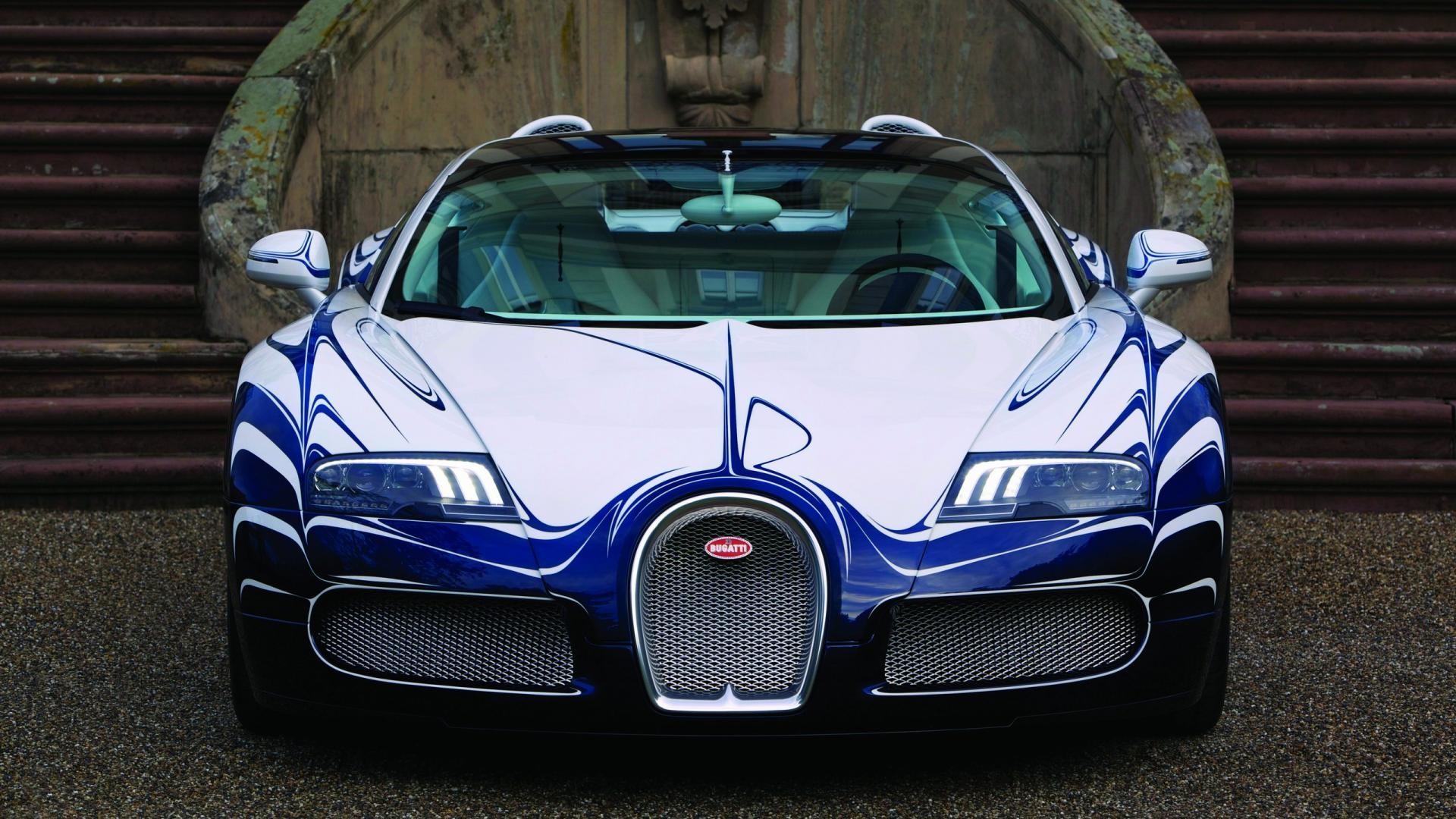 White And Blue Bugatti Veyron Grand Sport 2015 Hd Car - Bugatti Car Photos Download - HD Wallpaper