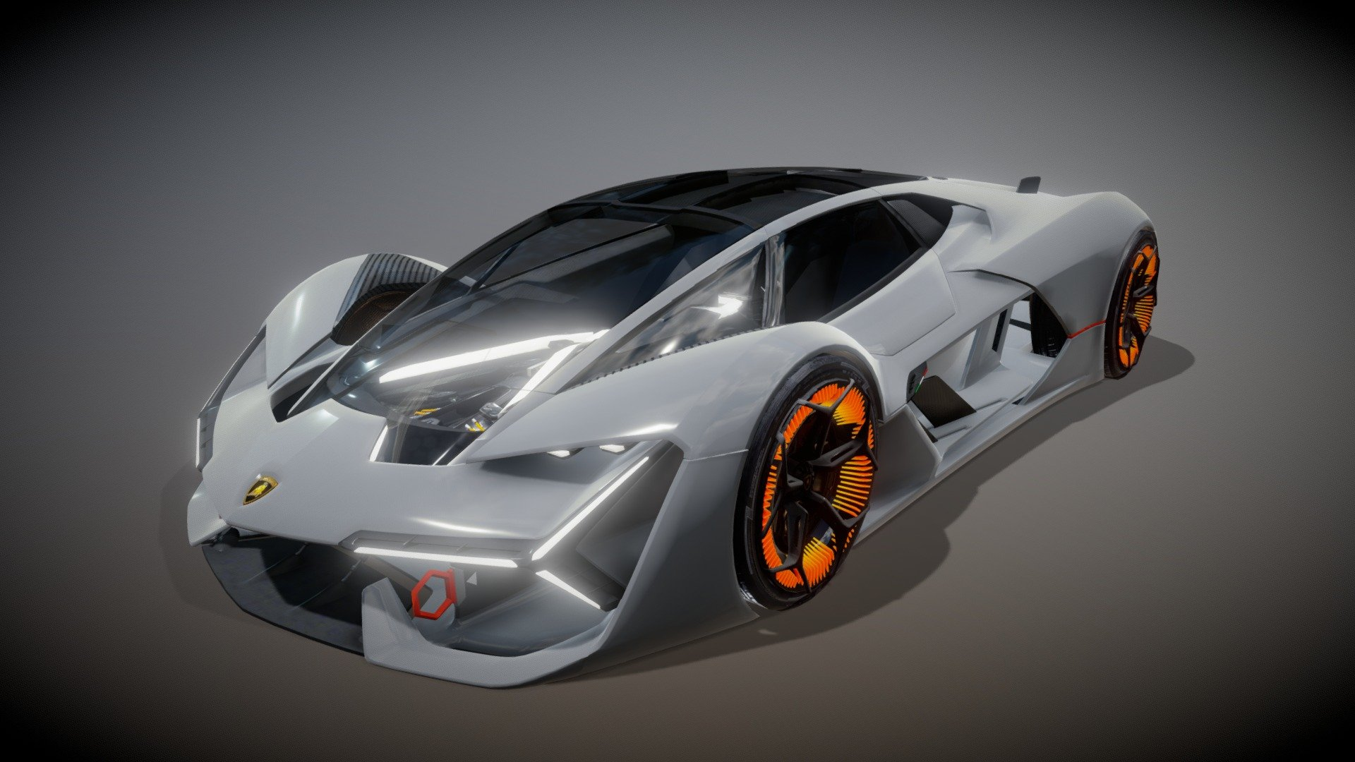 Lamborghini Terzo Millennio 3d Model 1920x1080 Wallpaper Teahub Io