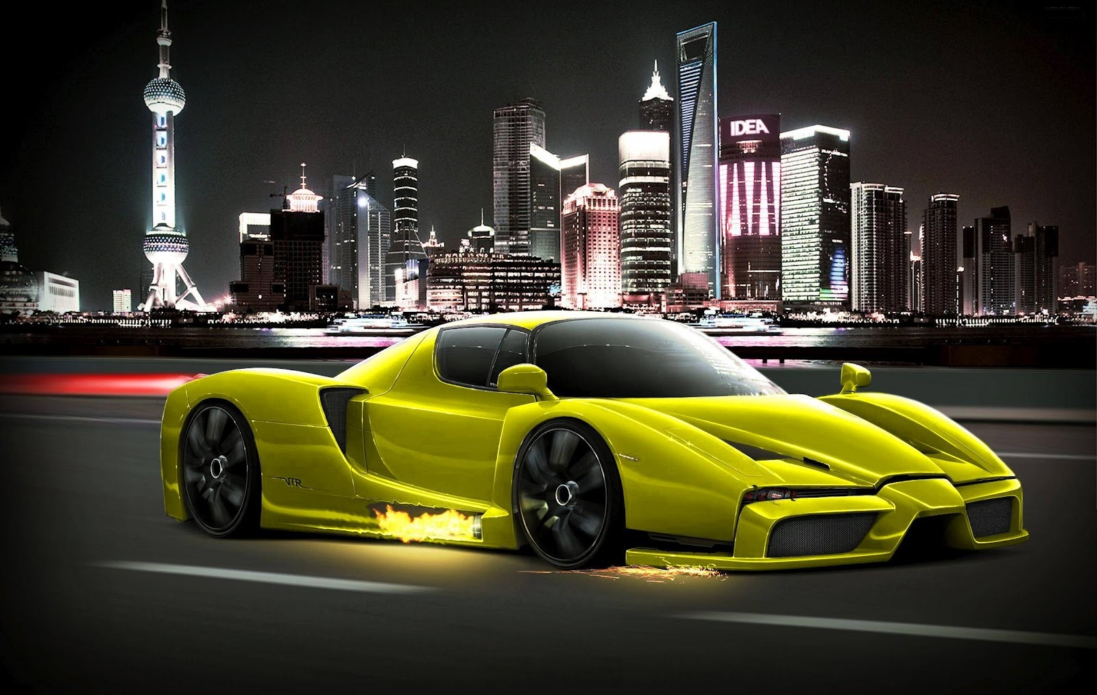 Image For Ferrari Car Hd High Definition Wallpaper Pudong Skyline 1600x1014 Wallpaper Teahub Io