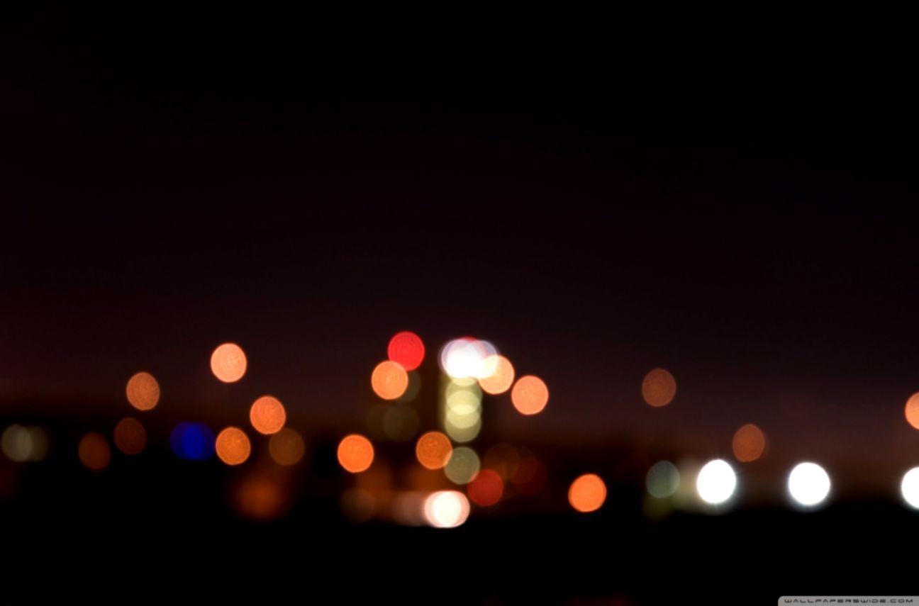 City Night Lights Bokeh 4k Hd Desktop Wallpaper For Night Wallpaper For Desktop 1296x855 Wallpaper Teahub Io