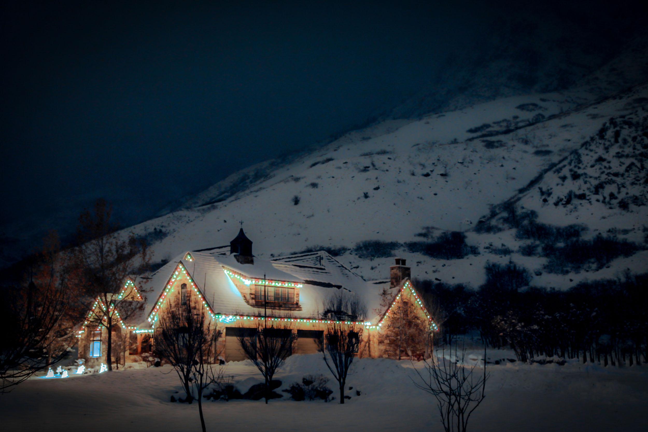 Christmas Lights Desktop Background - HD Wallpaper