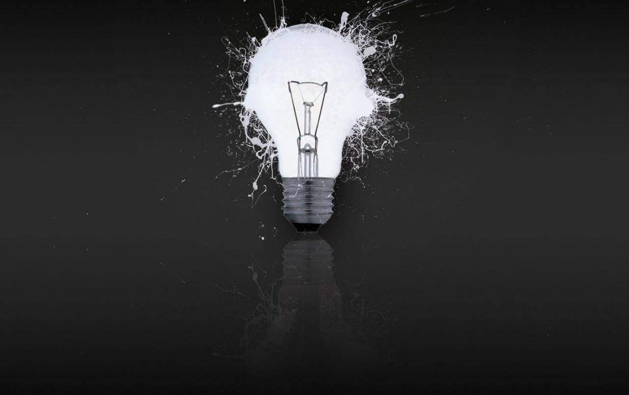 White Light Bulb Wallpapers - Abstract Light Bulb Background - HD Wallpaper