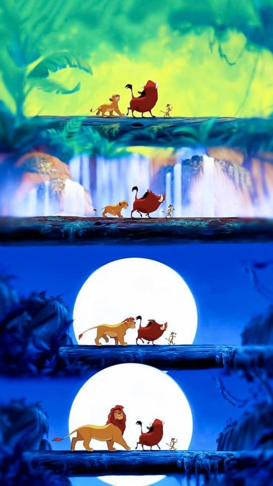 Image Lion King Hakuna Matata Scene 540x960 Wallpaper Teahub Io