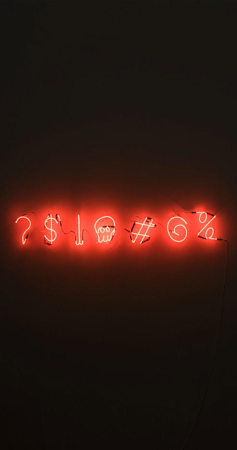 Sign Neon Light Iphone Wallpaper, Orange Neon Light - Neon Orange Background - HD Wallpaper