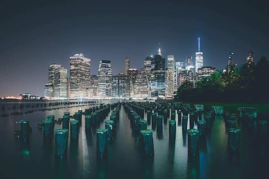 New York City Skyline By Night, Urban, Nyc, Usa, Cityscape, - New York Nights - HD Wallpaper