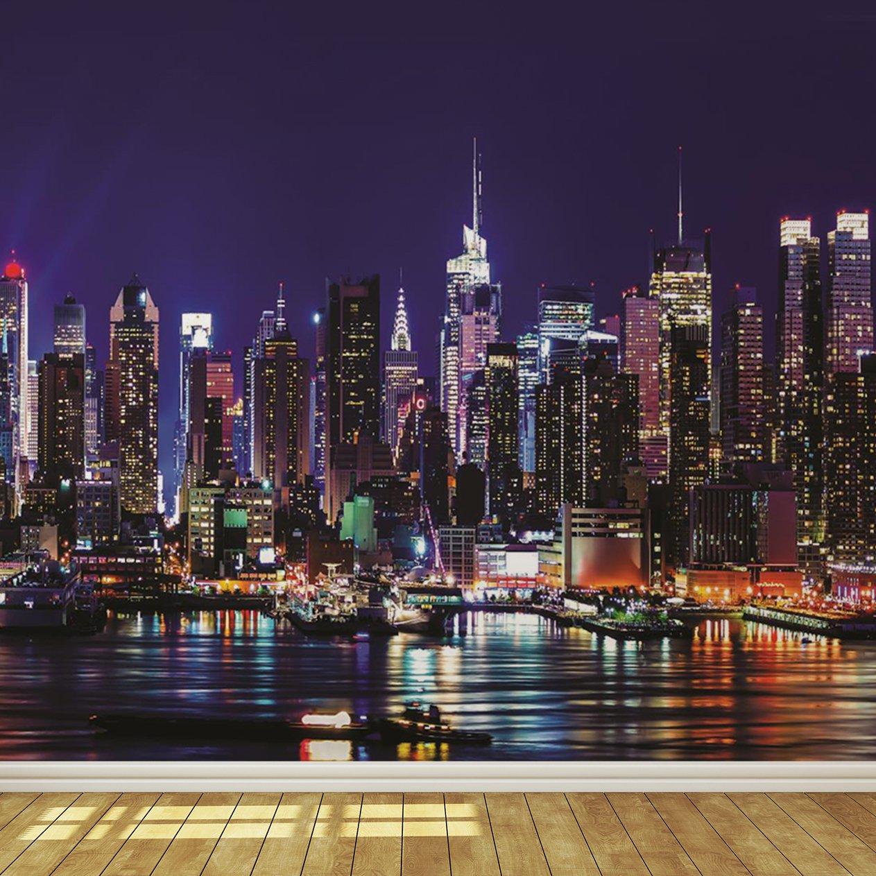 New York City Skyline At Night - HD Wallpaper