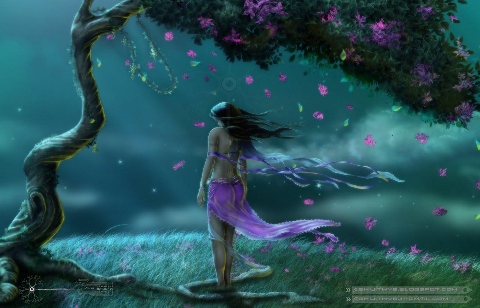 Beautiful Sad Paintings My Photoshop Paintings - Beautiful Sad Woman Painting - HD Wallpaper