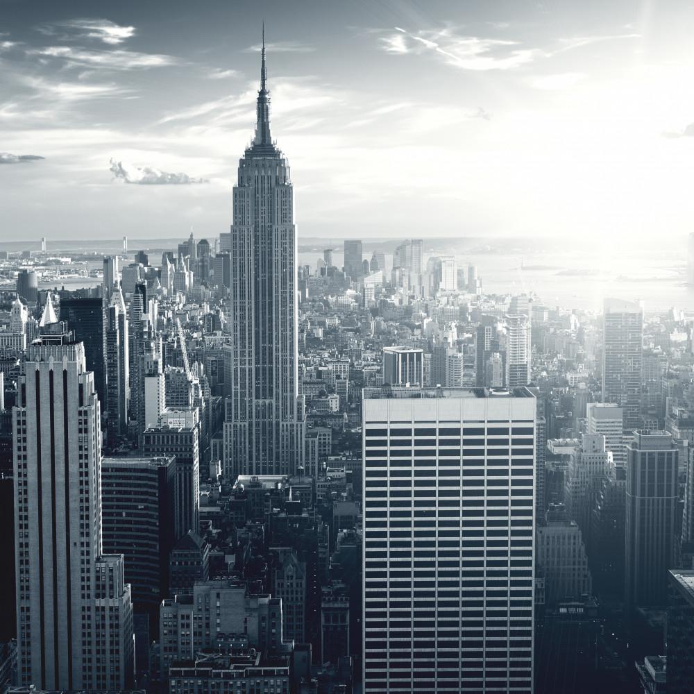 Wall Mural Amazing View To New York Manhattan At Sunrise - Iphone Pic Of Manhattan Skyline - HD Wallpaper