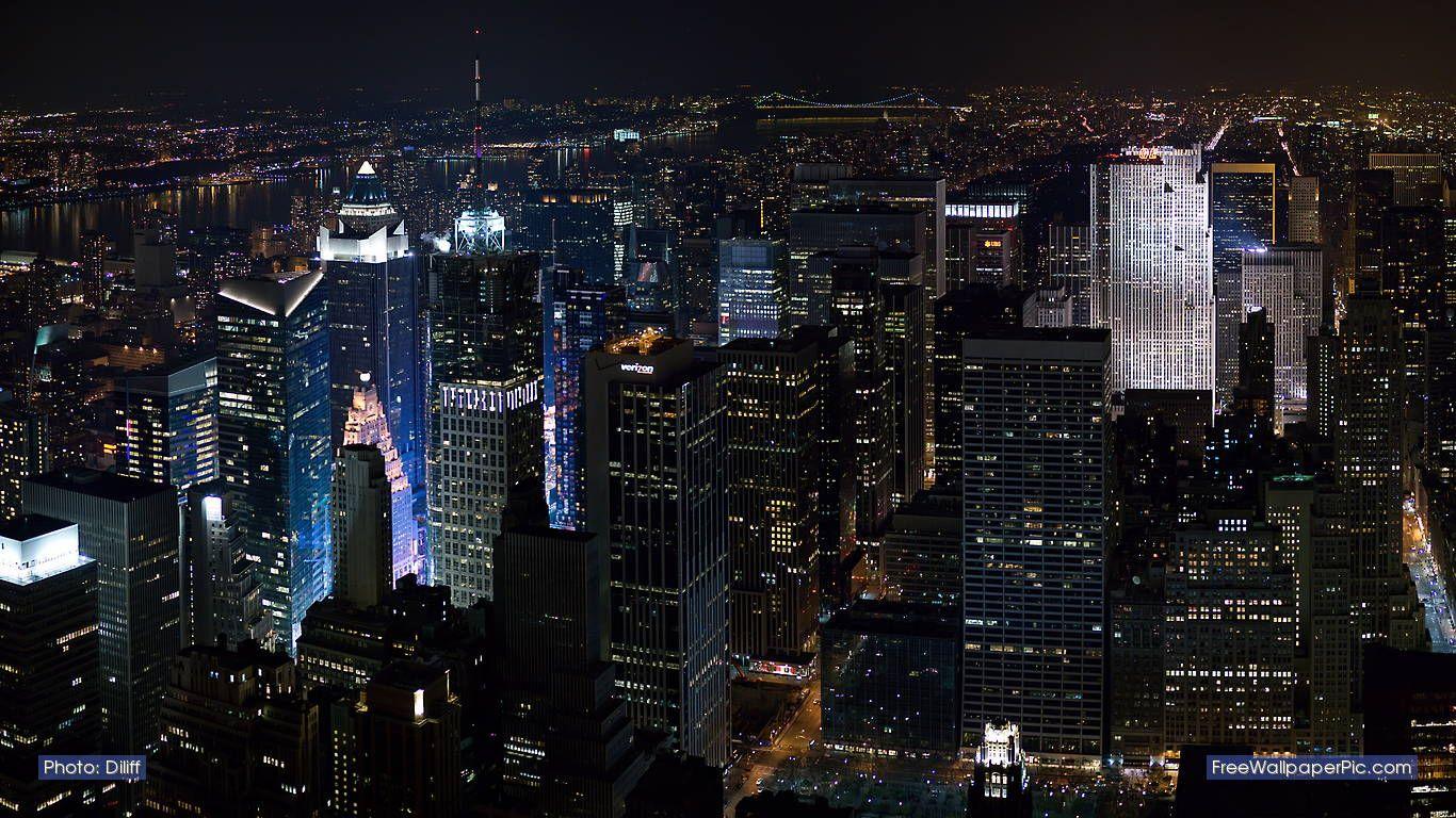 New York City 1366x768 Wallpaper Teahub Io