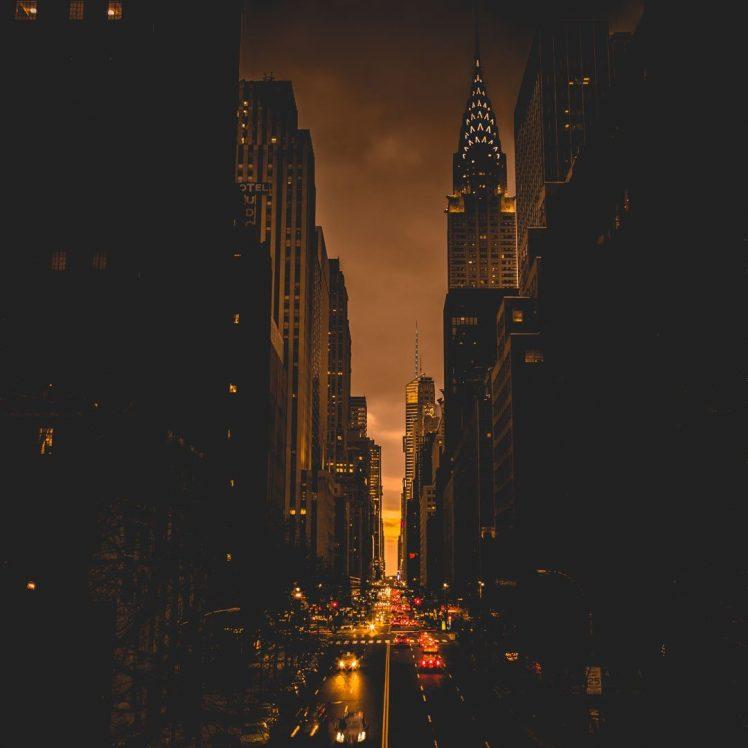 New York Street Night 748x748 Wallpaper Teahub Io