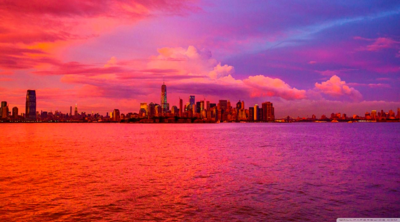 156 1565339 new york city pink sunset 4k hd