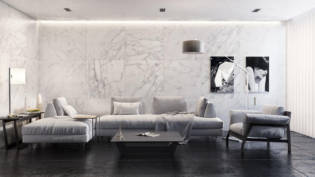 White Marble Wall Living Room 1200x675 Wallpaper Teahub Io
