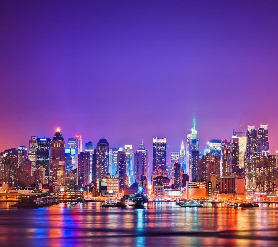 New York City Night Lights - HD Wallpaper