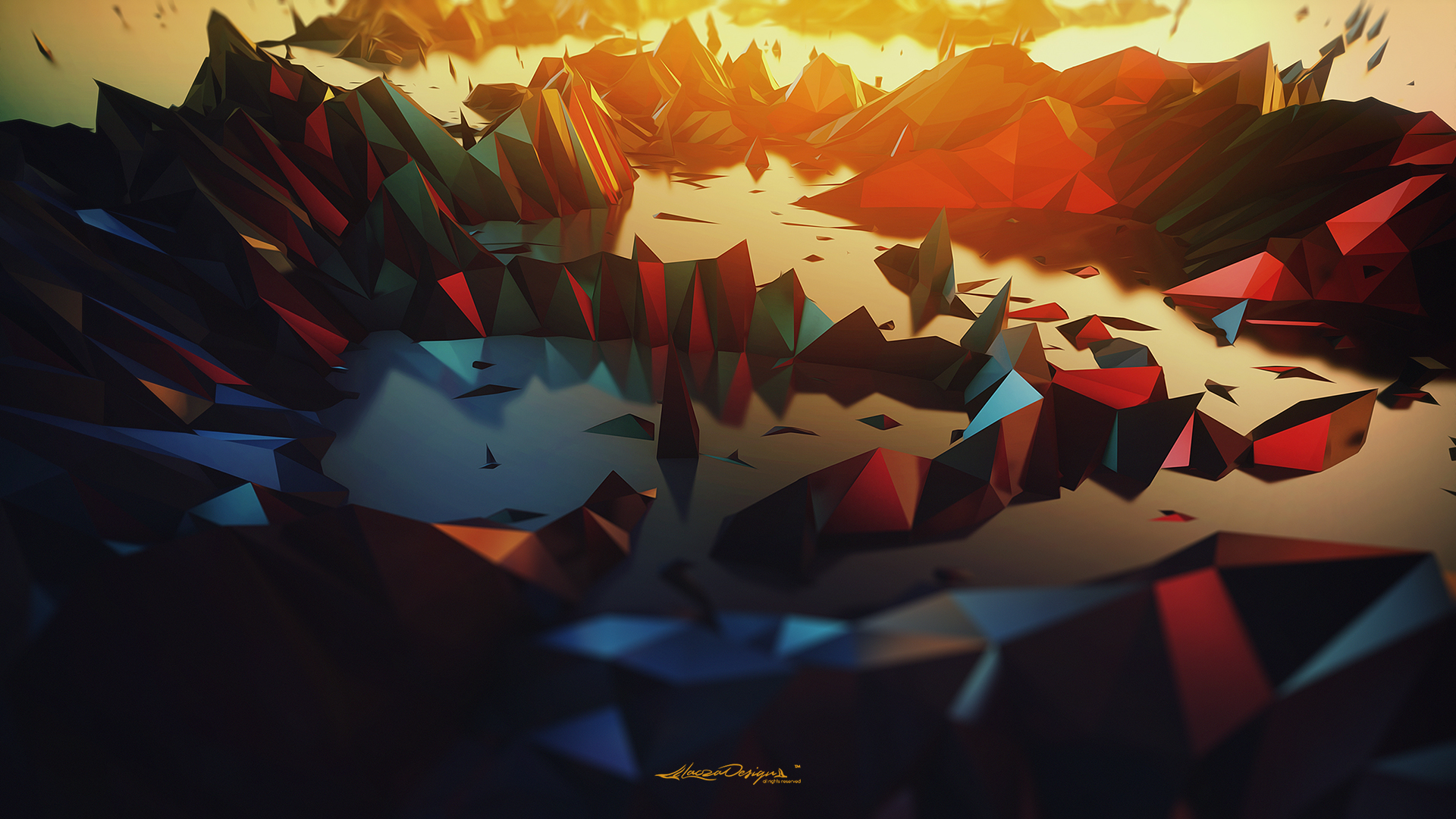 Abstract Geometric Digital Art - HD Wallpaper