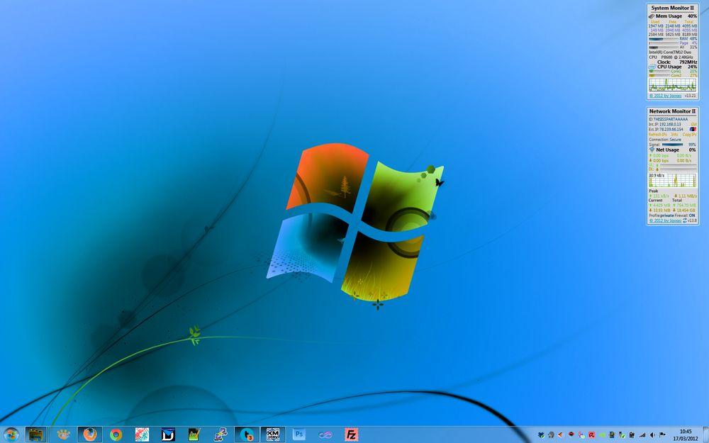 Negative Color Windows 7 - HD Wallpaper