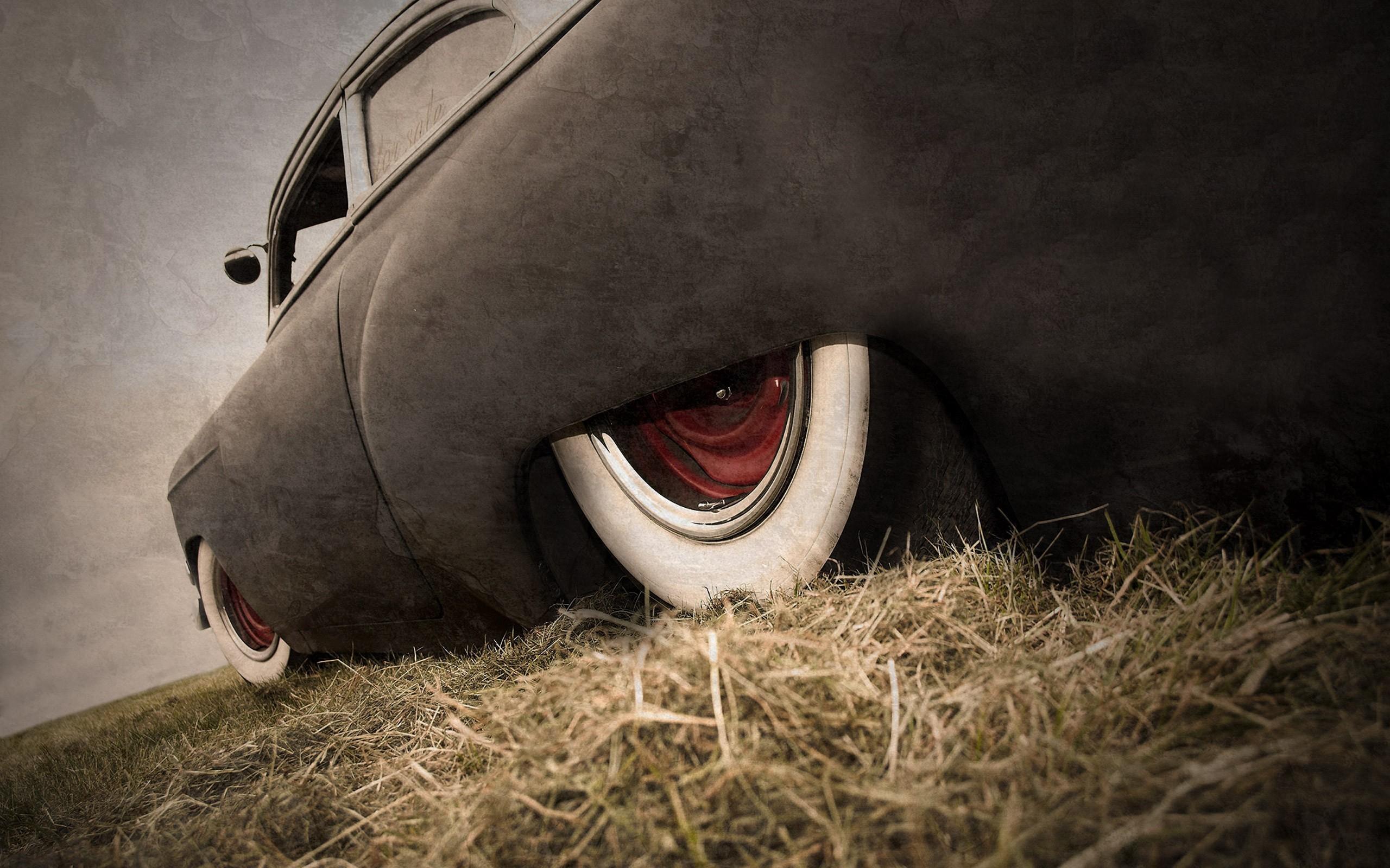 Lowrider Hot Rod Classic Car Grass Rat Rod Wallpaper - Auto Rat Rod Hd - HD Wallpaper