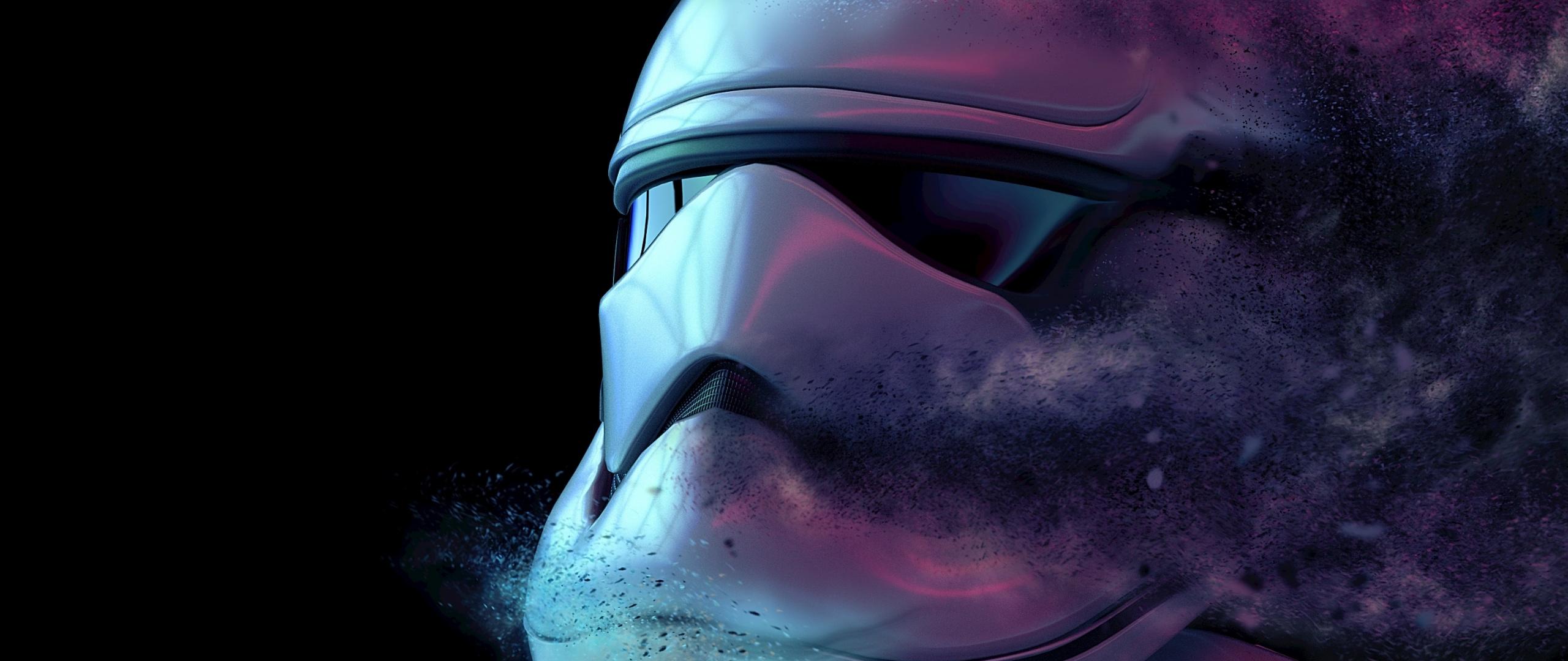 Dusk Stormtrooper Fade Out Art Wallpaper Stormtrooper Star Wars Wallpaper 4k 2560x1080 Wallpaper Teahub Io