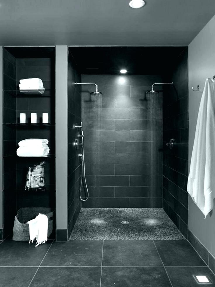 Bathroom Ideas Grey Floor Small Bathroom Tile Ideas - Modern Dark Bathroom Designs - HD Wallpaper