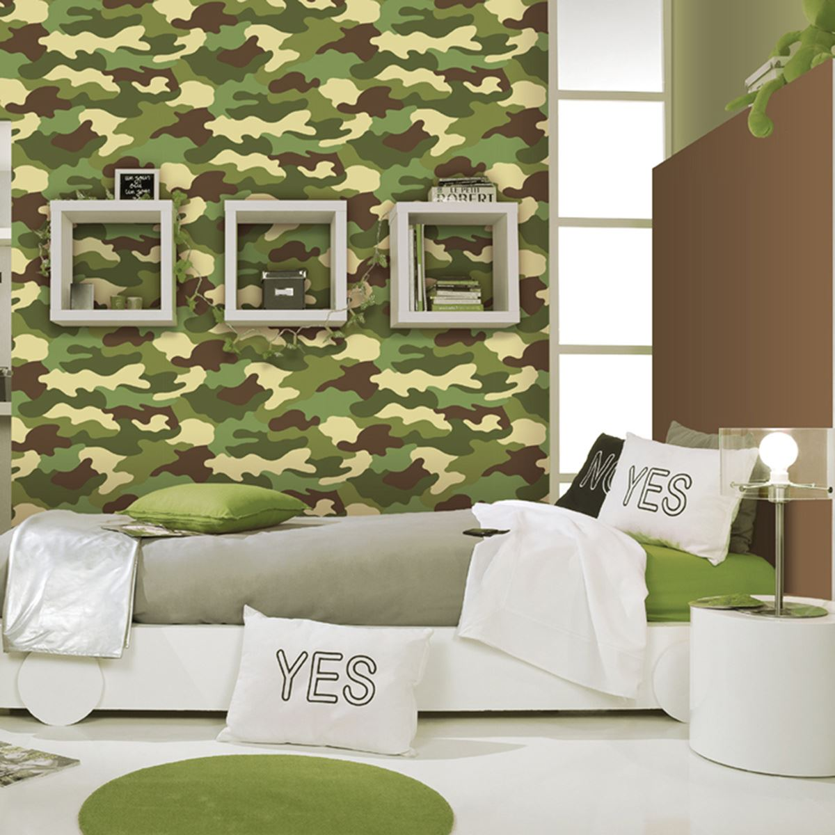 Camouflage Wallpaper On The Wall - HD Wallpaper