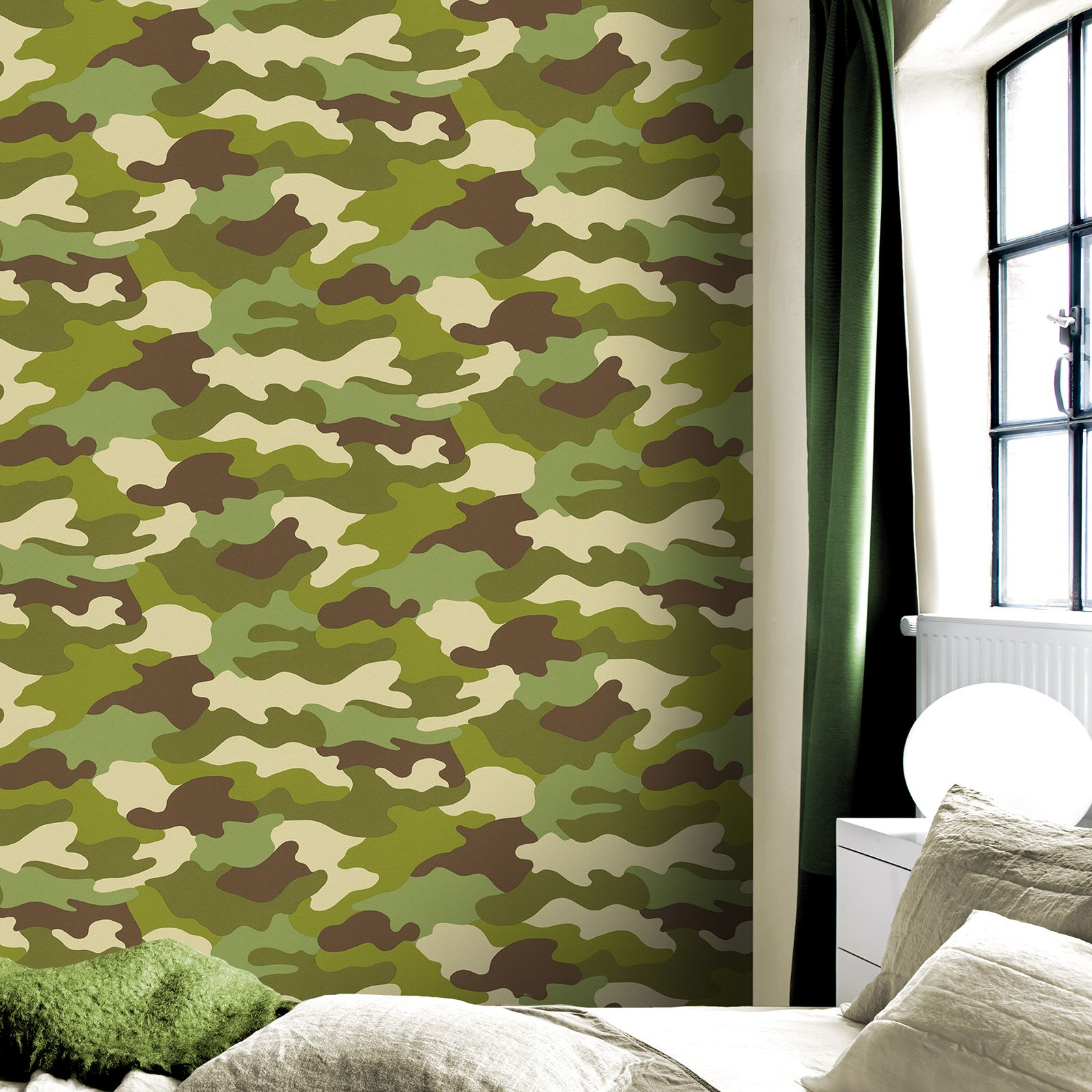 Boys Bedroom Wallpaper Kids Teens Space Camo Football - Roll Army Camouflage Camo Wallpaper Kids Bedroom - HD Wallpaper