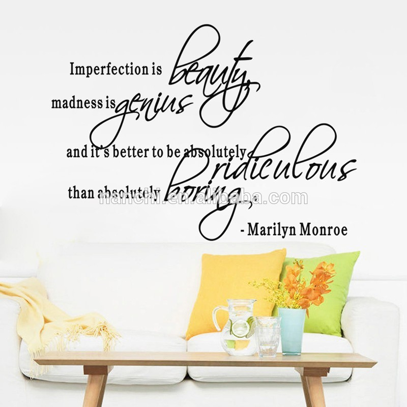 Marilyn Monroe Quote Wall Decals Beauty Home Decal - Wall Decals Beauty Quote - HD Wallpaper