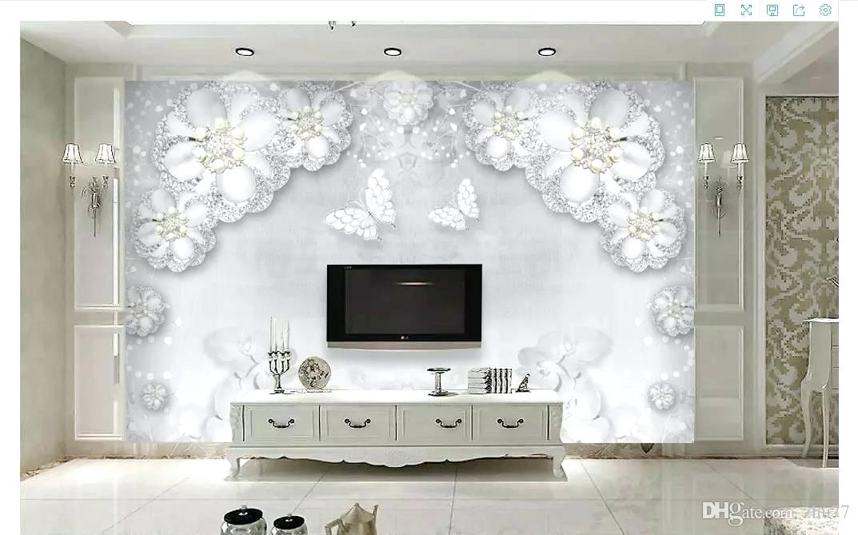 Latest Wallpaper Designs For Living Room Custom Photo - 3 D Tapete Weiss - HD Wallpaper