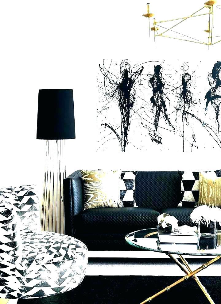 Black White And Gold Living Room Decor, Black White And Gold Living Room