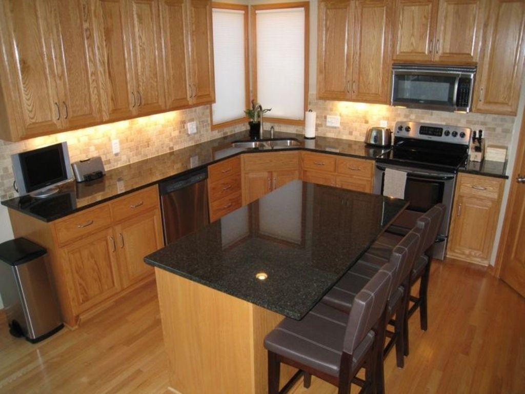 Cherry Cabinets With Dark Granite Countertops Kitchens Islands With Granite Countertops 1024x768 Wallpaper Teahub Io