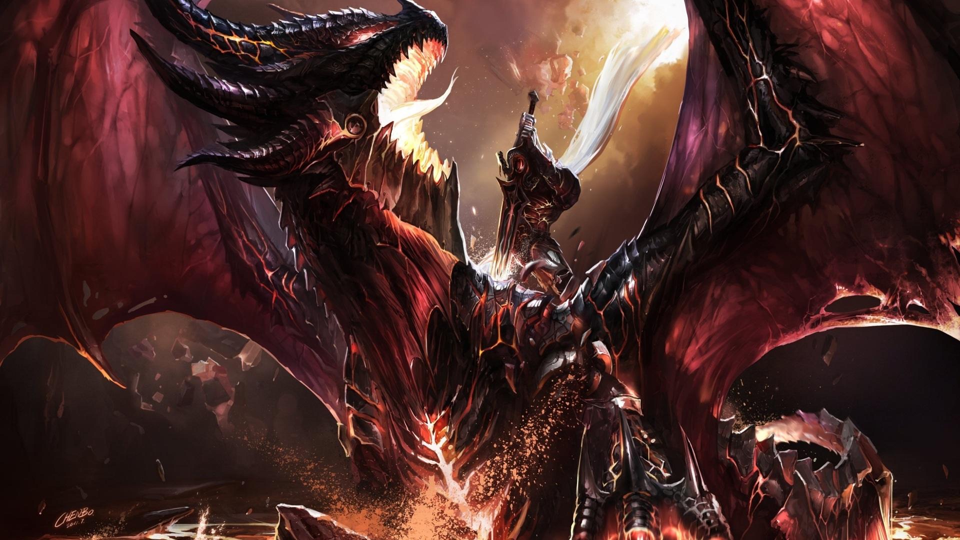 Dragon, Fanart, Fanart, Art, World Of Warcraft, Chenbo, - Youtube Channel Art Dragon - HD Wallpaper