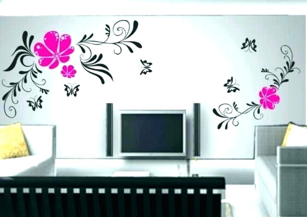Stencil Designs For Walls Living Room Stencil Designs - Living Room Wall Painting Design - HD Wallpaper