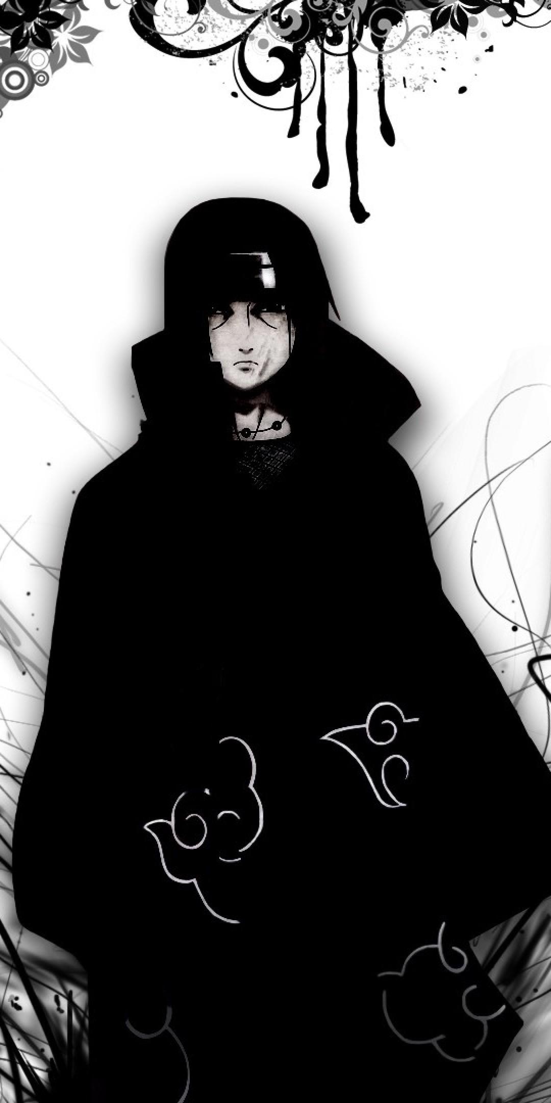 16 162212 uchiha sasuke naruto black and white akatsuki naruto
