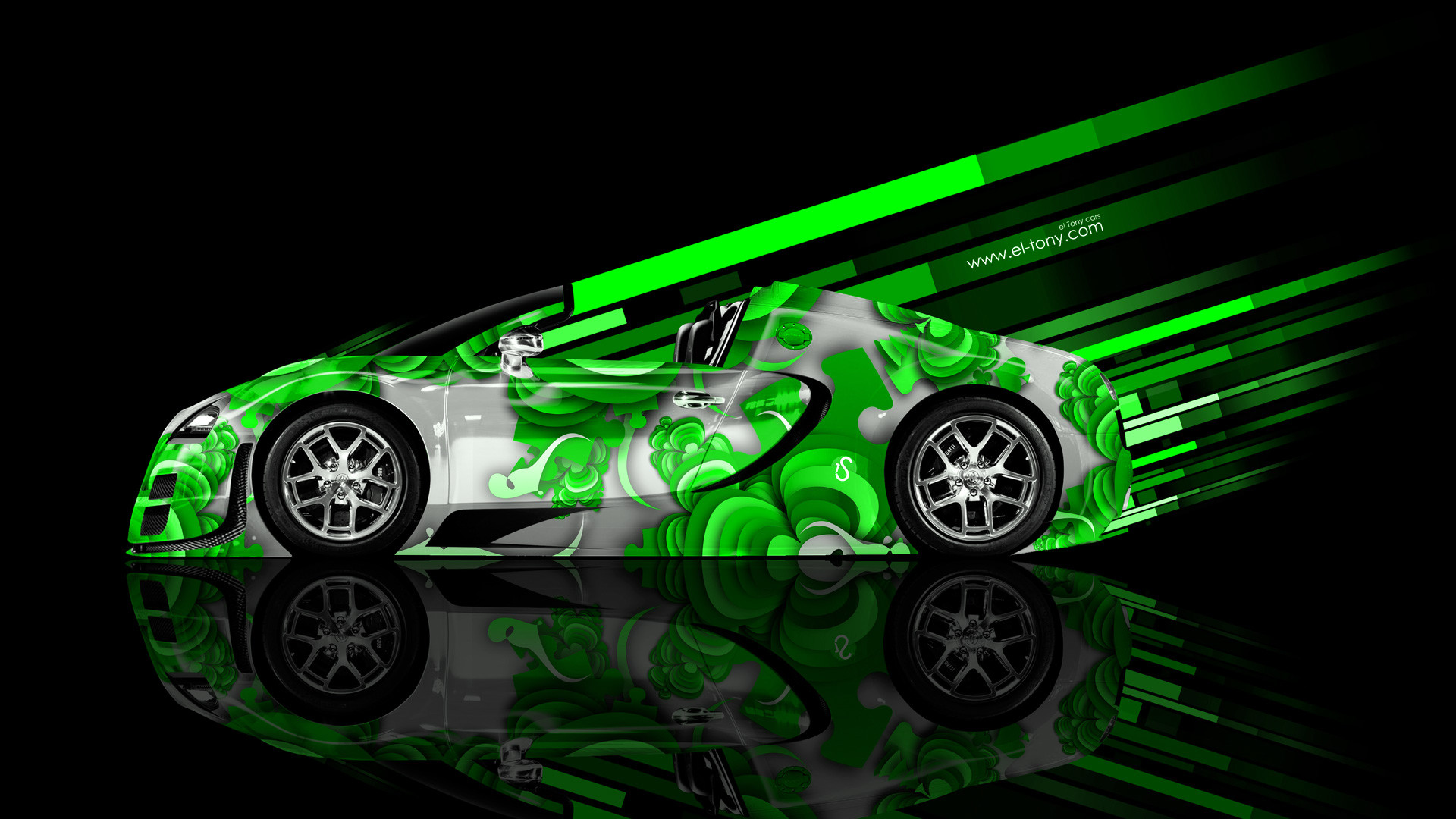 Green Bugatti Veyron Wallpaper Bugatti Veyron Neon Blue 1920x1080 Wallpaper Teahub Io