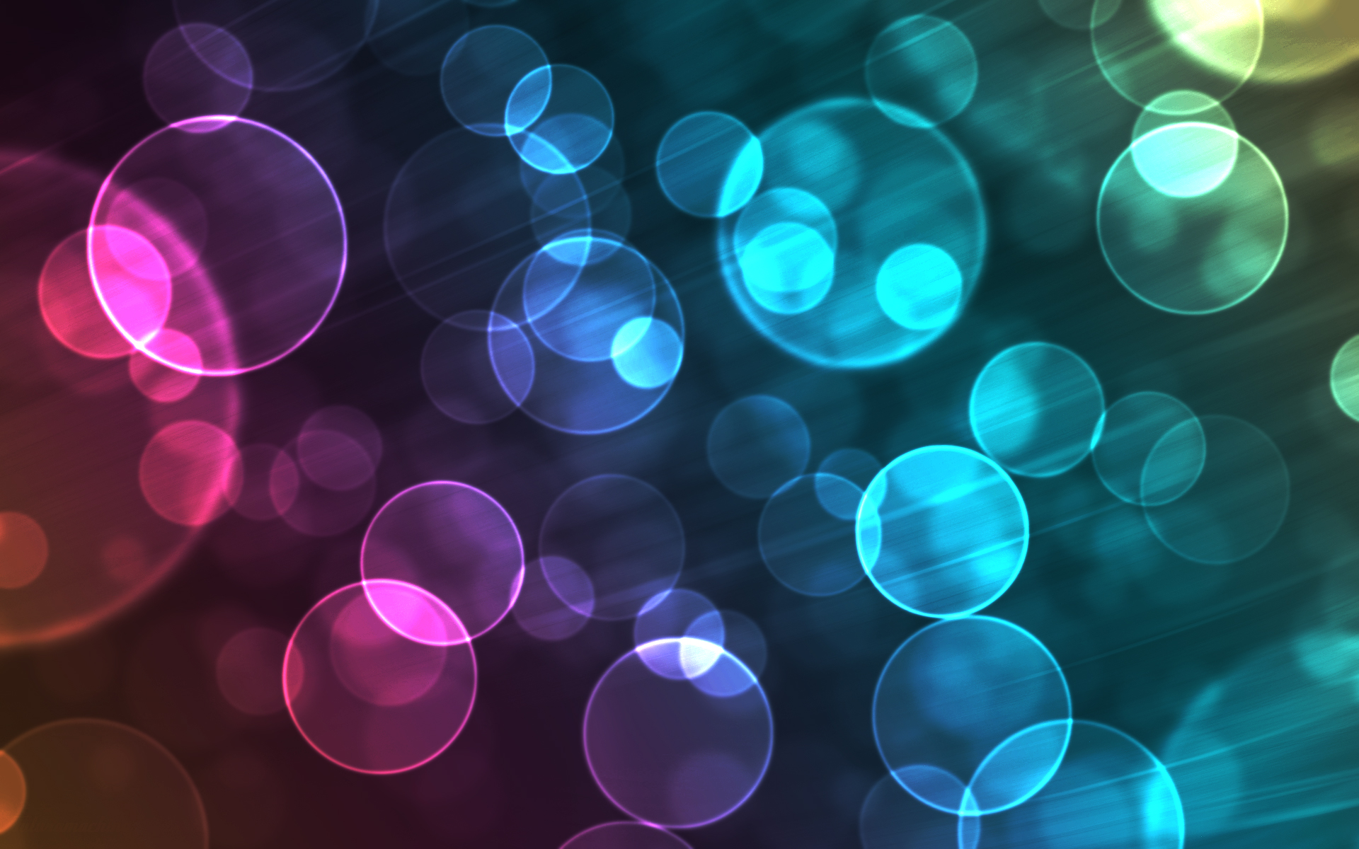 Colorful Water Bubbles Background - HD Wallpaper
