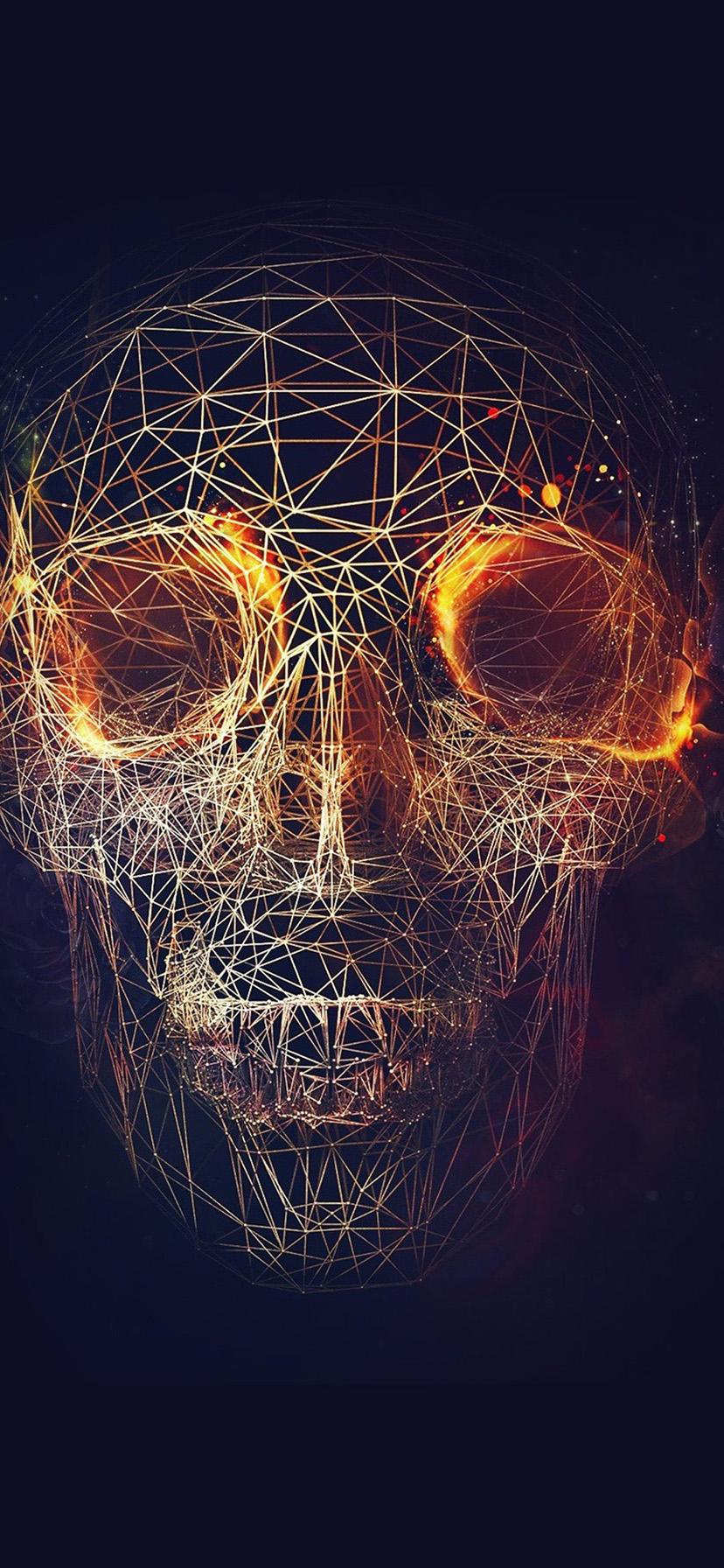 16 168196 digital skull art iphone xr wallpaper 3d wallpaper