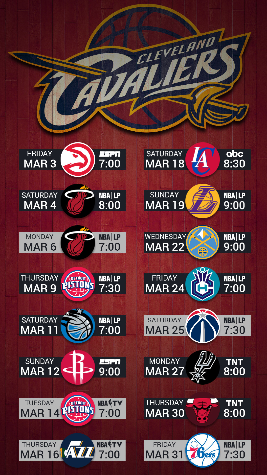 Cleveland Cavaliers 2017 Mobile Lock Screen Wallpaper - Cleveland Cavaliers Team Logo - HD Wallpaper