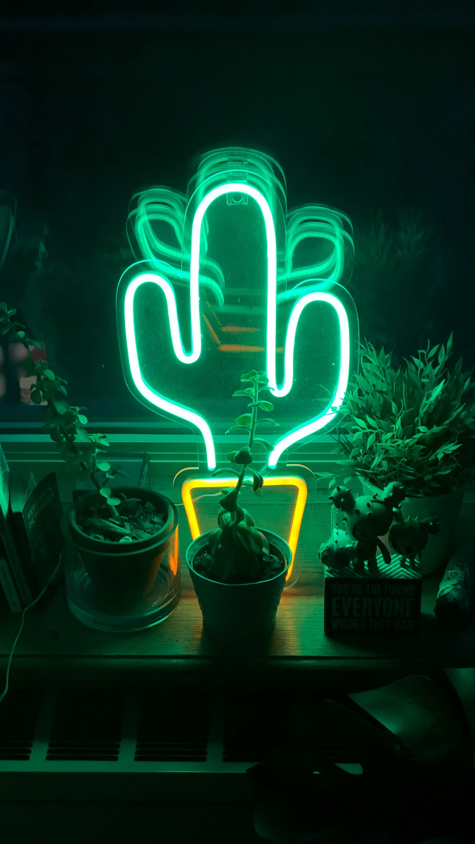 Wallpaper Neon, Cactus, Flowers, Light, Green - Cool Neon Sign Wallpaper For Android - HD Wallpaper