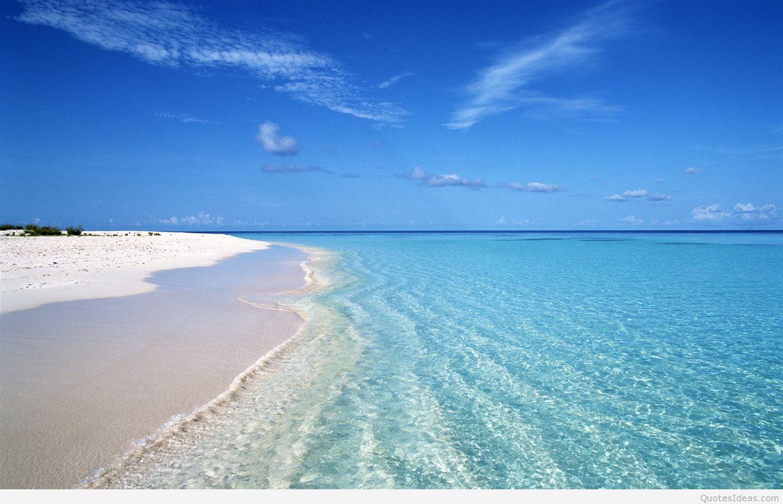 Cool Summer Blue Beach Wave - Praia De Agua Transparente - HD Wallpaper