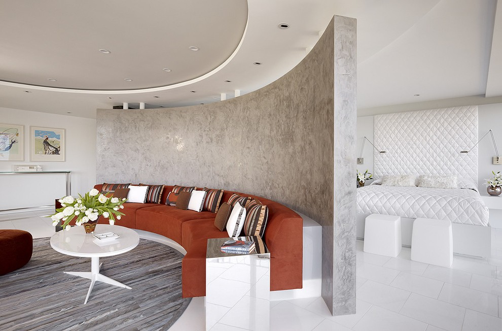 Hotel Lobby Furniture Living Room Contemporary With - Living Room Curved Wall Decor - HD Wallpaper