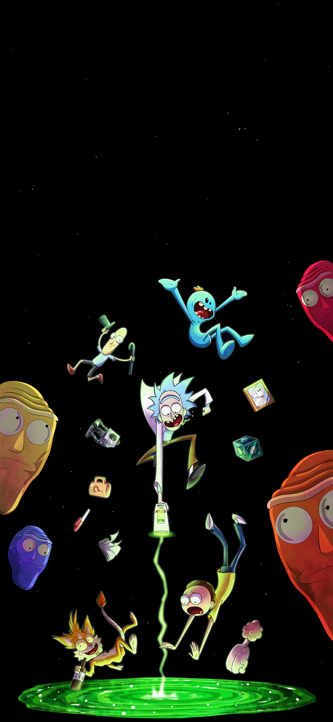 Cartoon Wallpaper For Iphone Rick And Morty Wallpaper Celular