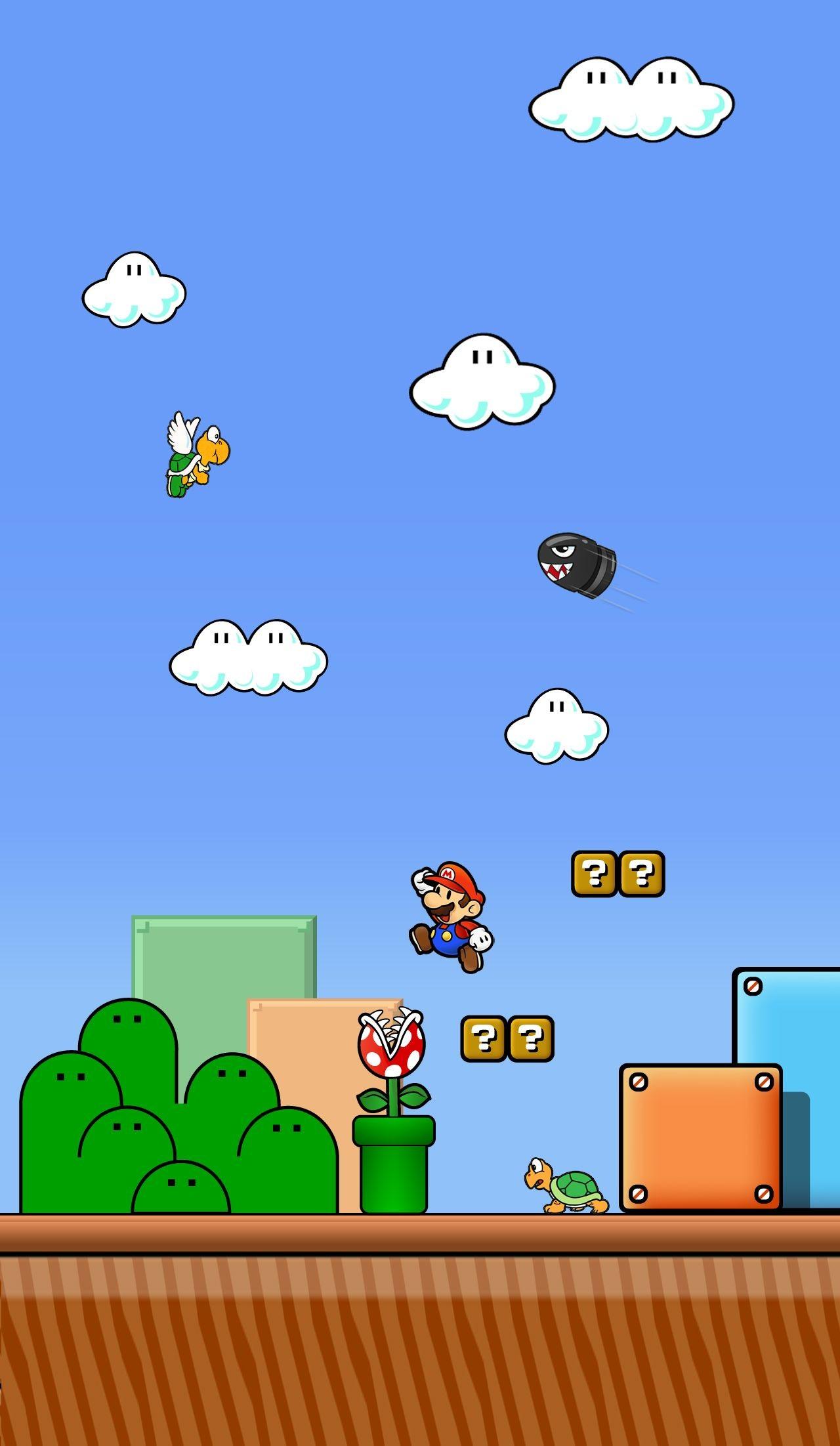 21 Bit Mario Wallpaper Picserio   Iphone X Super Mario   12210x21 ...