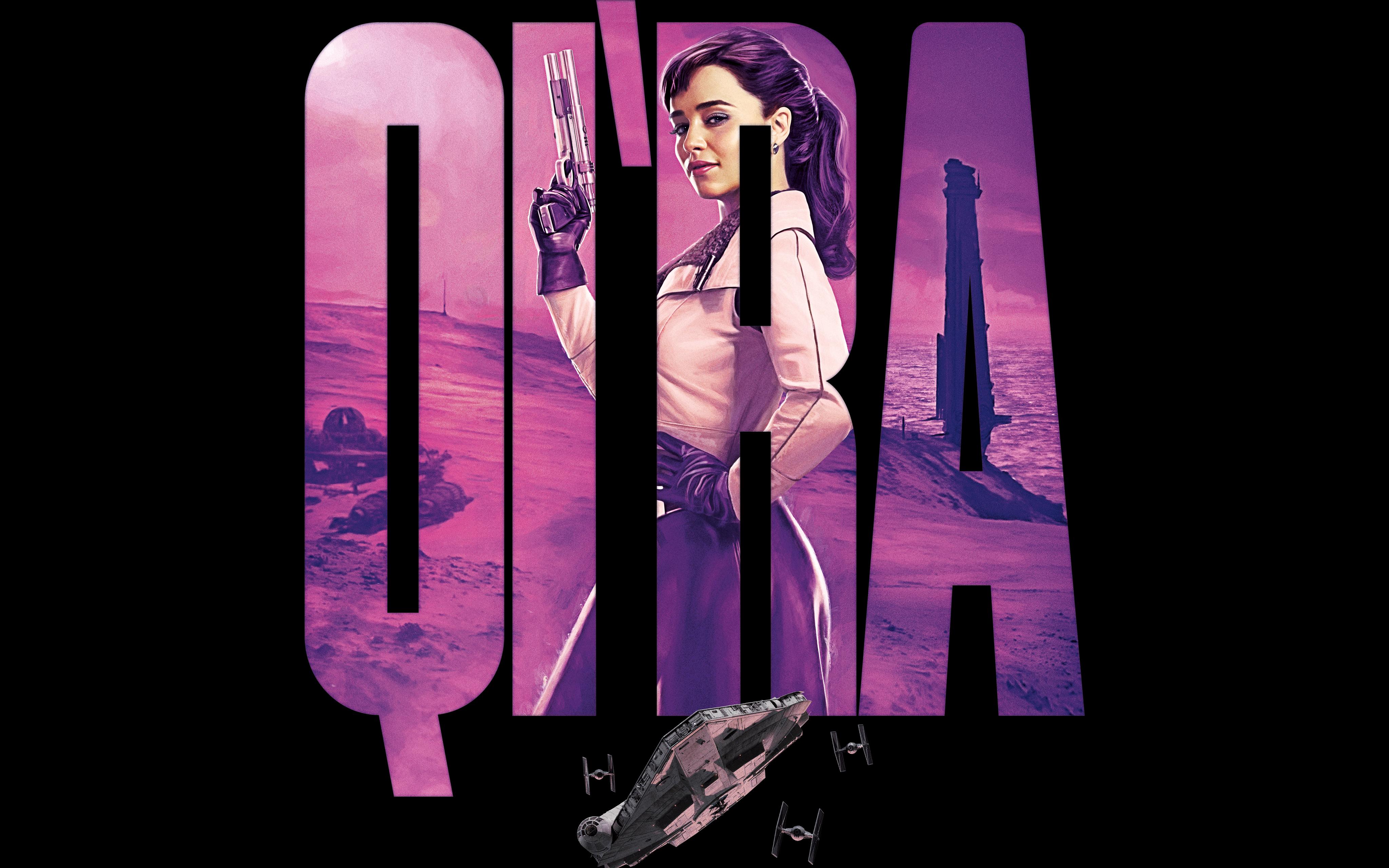 Emilia Clarke As Qira Solo A Star Wars Story 4k 8k 4096x2560 Wallpaper Teahub Io