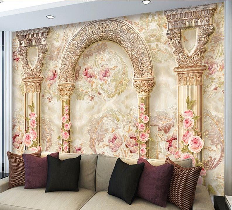 Golden Color Wallpaper For Bedroom - HD Wallpaper