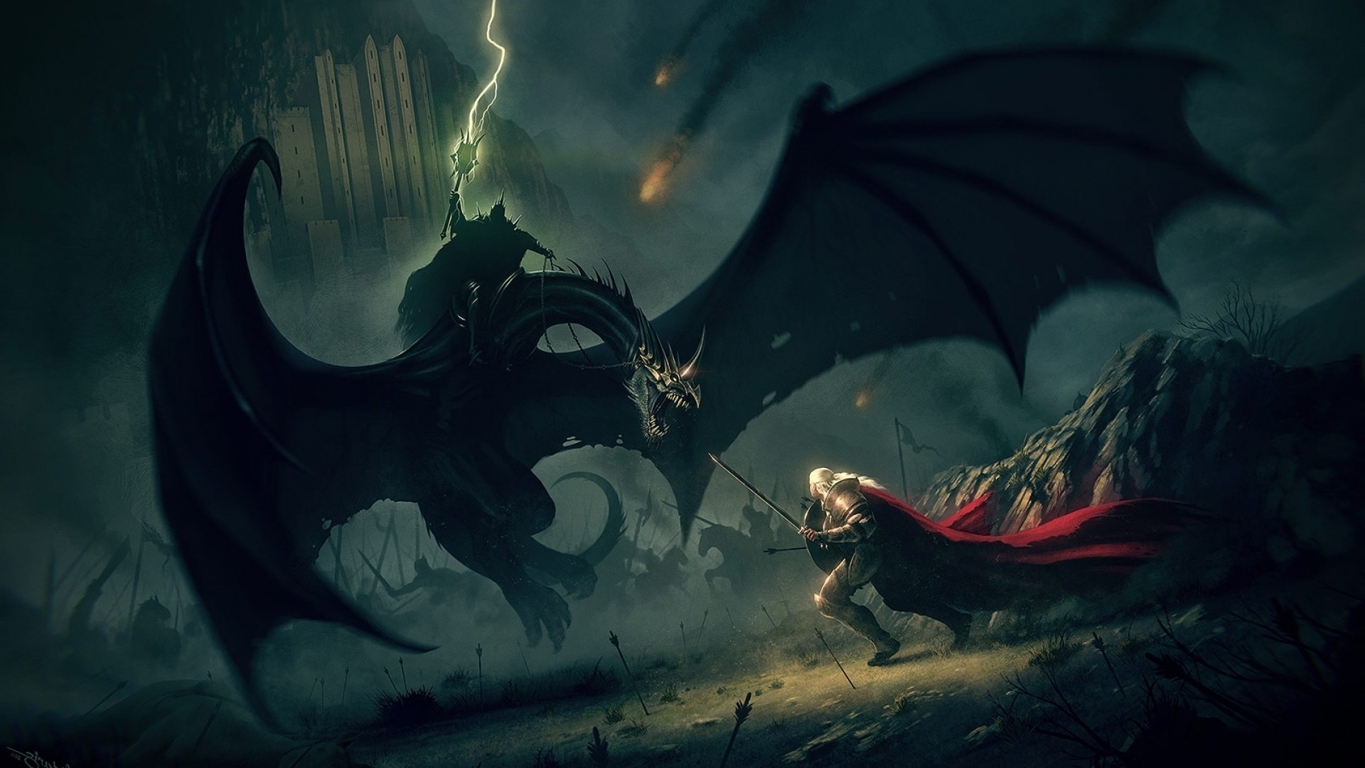 1920x1080, J - Lord Of The Rings Art Witch King - HD Wallpaper