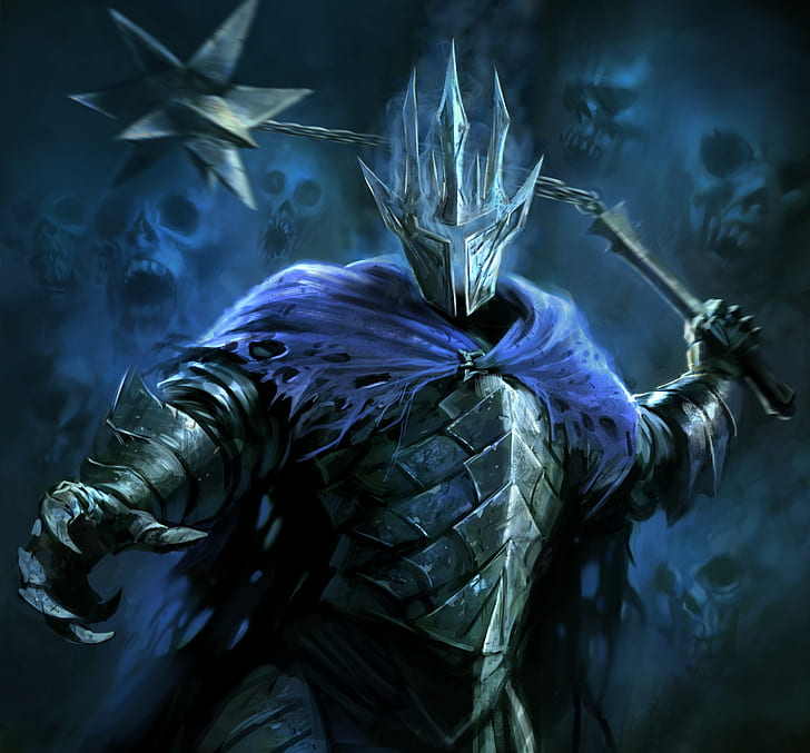 Fantasy Art, Nazgûl, Skull, The Lord Of The Rings - Guardians Of Middle Earth Witch King - HD Wallpaper
